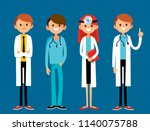 team of hospital workers stand... | Shutterstock .eps vector #1140075788