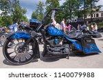 City Cesis  Latvia. Motorcycle...