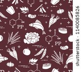 seamless pattern with foods...   Shutterstock .eps vector #1140085826