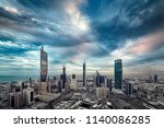 kuwait city at sunset | Shutterstock . vector #1140086285
