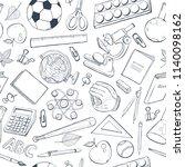 school doodle background.... | Shutterstock .eps vector #1140098162