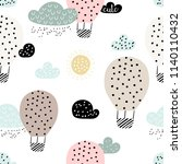 Baby Seamless Pattern With Hot...