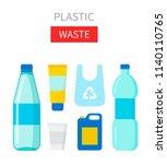 plastic waste vector... | Shutterstock .eps vector #1140110765