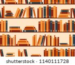 seamless pattern with books ... | Shutterstock .eps vector #1140111728