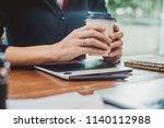 website designer working... | Shutterstock . vector #1140112988