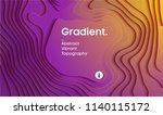 abstract gradient vector... | Shutterstock .eps vector #1140115172