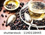 healing  therapeutic tea from... | Shutterstock . vector #1140118445