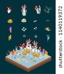 deep sea plants like animals... | Shutterstock .eps vector #1140119372