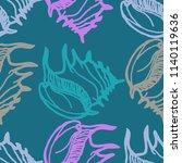 summer background seamless... | Shutterstock .eps vector #1140119636