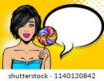 young brunette caucasian pop... | Shutterstock .eps vector #1140120842