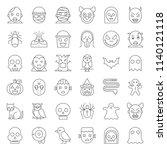 halloween character thin line... | Shutterstock .eps vector #1140121118