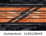 metal grid structures over... | Shutterstock . vector #1140128645
