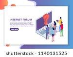 internet forum  communicating... | Shutterstock .eps vector #1140131525