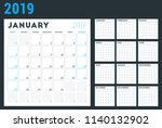 calendar planner for 2019 year. ... | Shutterstock .eps vector #1140132902