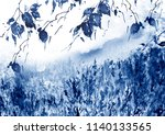 watercolor country forest... | Shutterstock . vector #1140133565