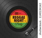 poster  flyer reggae night...