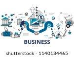 startup business and teamwork...   Shutterstock .eps vector #1140134465