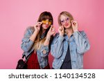 lifestyle portrait of two ... | Shutterstock . vector #1140134528