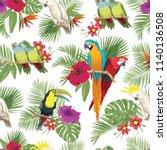 tropical seamless pattern.... | Shutterstock .eps vector #1140136508