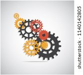 gears  trundles and cogwheels ... | Shutterstock .eps vector #1140142805