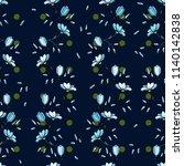 blossom floral seamless pattern.... | Shutterstock .eps vector #1140142838