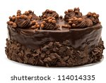 Chocolate Cake Isolated On...