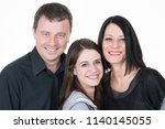 happy family of three parents...   Shutterstock . vector #1140145055