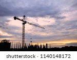 crane lift is a large crane....   Shutterstock . vector #1140148172