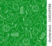 vector vegetable pattern line... | Shutterstock .eps vector #1140149588