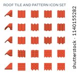 roof tile or roof sheet icon... | Shutterstock .eps vector #1140155282