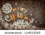 vintage christmas background... | Shutterstock . vector #114015565
