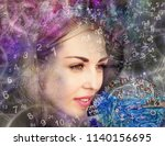 the woman in the esoteric world ... | Shutterstock . vector #1140156695