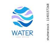 water logo design  corporate... | Shutterstock .eps vector #1140157268
