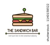 food logotype with classical... | Shutterstock .eps vector #1140158522