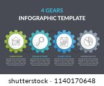 infographic template with four...   Shutterstock .eps vector #1140170648