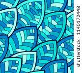 seamless abstract pattern.... | Shutterstock .eps vector #1140172448