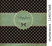 Polka Dot Card With Frame And...