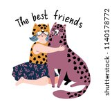 friendly poster design with... | Shutterstock .eps vector #1140178772