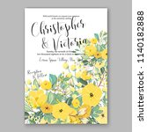 floral wedding invitation... | Shutterstock .eps vector #1140182888