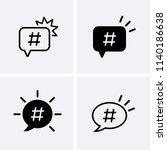 follow icons set. hashtag logo... | Shutterstock .eps vector #1140186638
