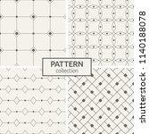 set of four seamless patterns.... | Shutterstock .eps vector #1140188078