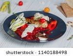 stew with fish and vegetables ... | Shutterstock . vector #1140188498