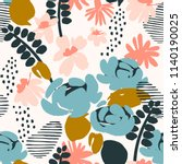 floral seamless pattern. vector ... | Shutterstock .eps vector #1140190025