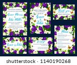 save the date cads design for... | Shutterstock .eps vector #1140190268