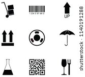 packaging symbols icon set | Shutterstock .eps vector #1140191288