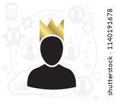 admin privileged profile with... | Shutterstock .eps vector #1140191678