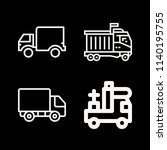 lorry related set of 4 icons... | Shutterstock . vector #1140195755