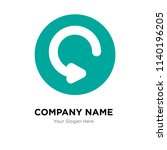 refresh company logo design... | Shutterstock .eps vector #1140196205