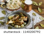 traditional islamic feast... | Shutterstock . vector #1140200792