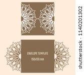 laser cutting vector envelope.... | Shutterstock .eps vector #1140201302